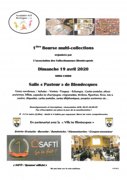 Bourse multicollections 19 avril
